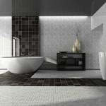 Interior of the modern bathroom 3D
